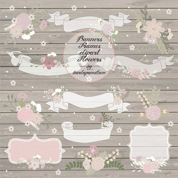 rustic wedding banner template