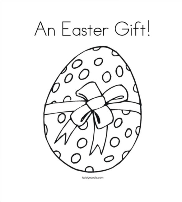 an easter gift coloring page twisty noodle pdf download