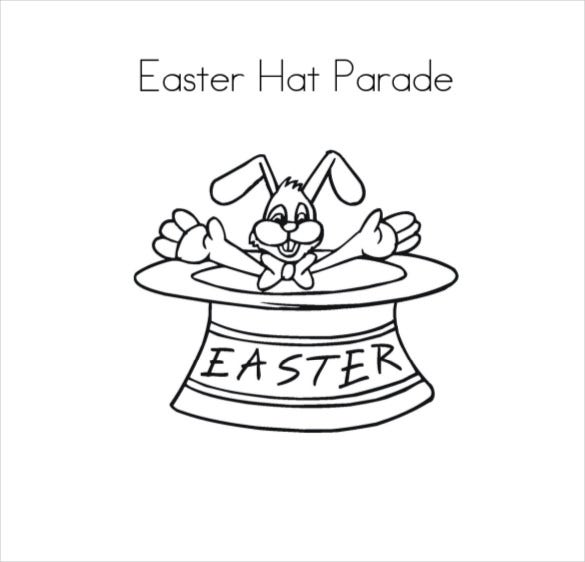 free pdf download easter hat parade coloring page