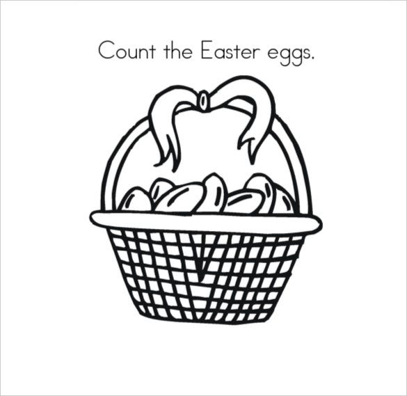 count the easter eggs coloring page free download