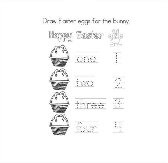 draw easter eggs for the bunny coloring page download