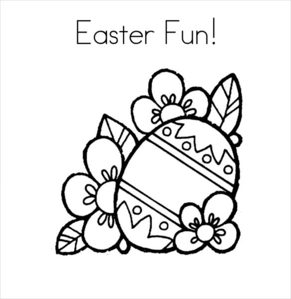easter fun coloring page free pdf download