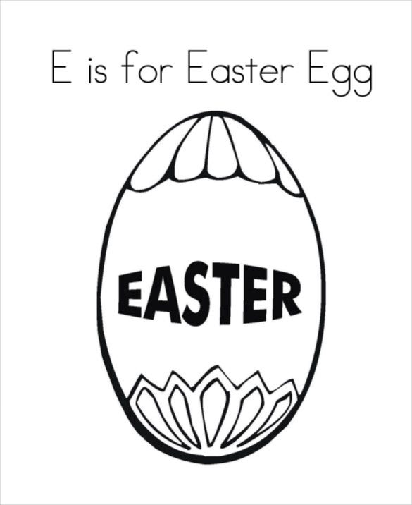 free easter egg coloring page download