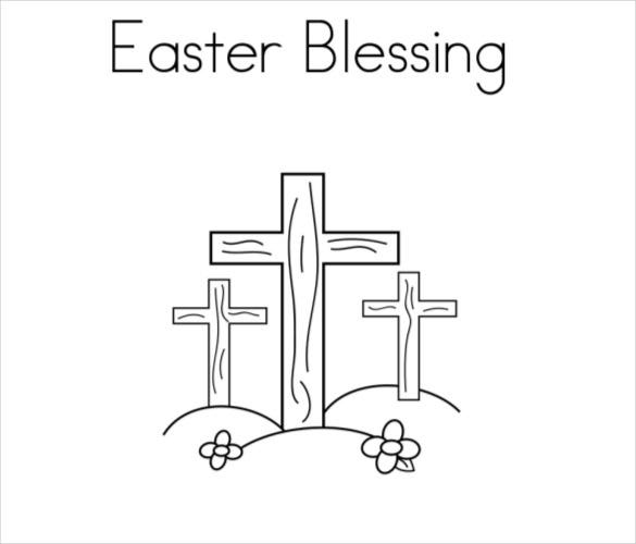 easter blessing coloring page free pdf download