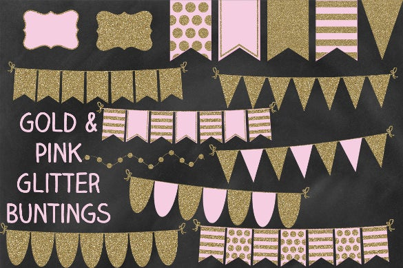 bunting wedding banner template