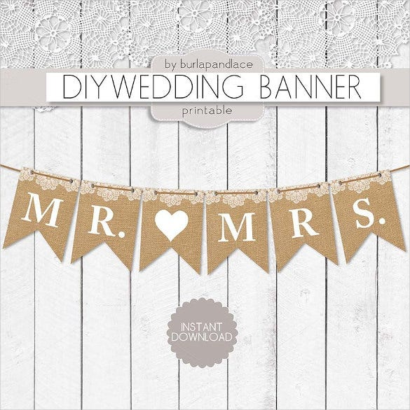 printable wedding banner template
