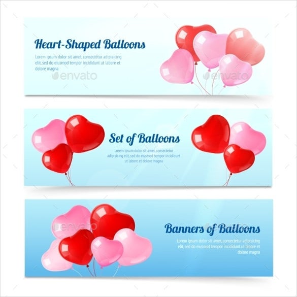 ballons wedding banner template