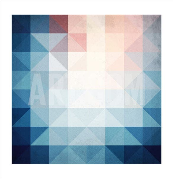 art of sun aabstract blue triangles geometry