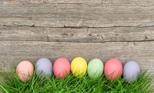 pastel colored easter eggs1
