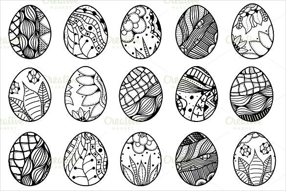 hand drawn easter eggs1