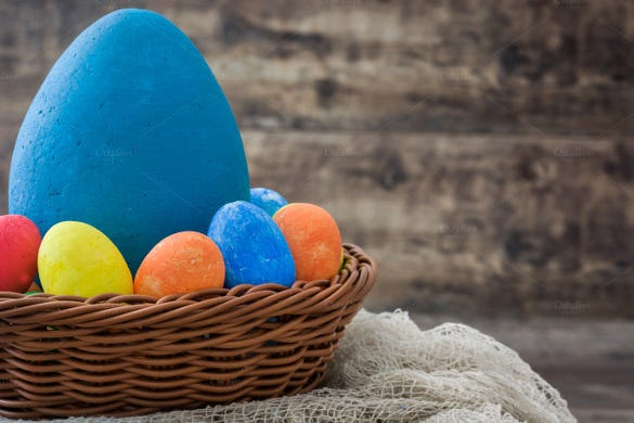 easter eggs in a basket1