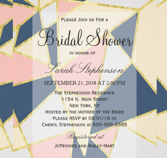 multicolor elegant geometric triangles wedding invitations
