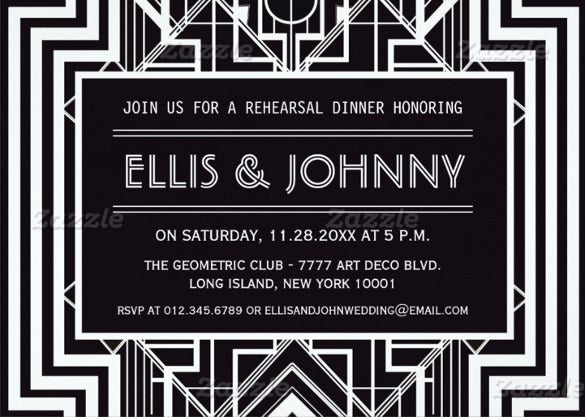 geometric rehearsal wedding dinner invitations printable