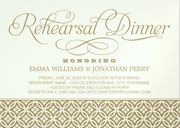 printable geometric wedding rehearsal dinner invitations