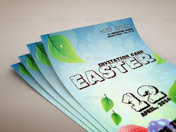 easter invitation card