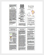 PDF Easter Brochure Template
