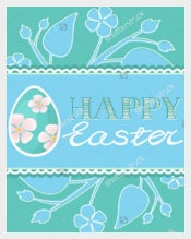 Set of Easter Brochure Flyer Layout