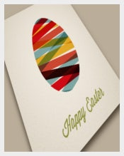 Best Vector Happy Easter Card Template