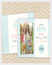 Lovely Handmade Easter Card Template