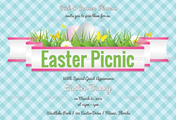 easter picnic invitation