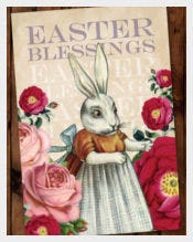 Vintage Easter Greeting Card Template
