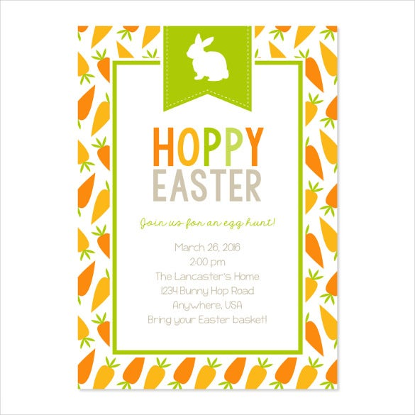 hoppy easter invitation