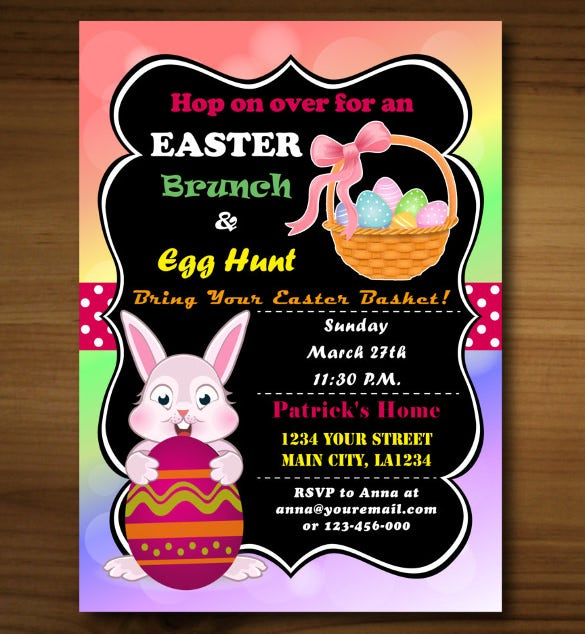 instant download easter invitation