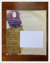 Passion Week Eaxster Postcard Sample Template