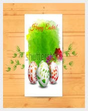 Easter Card Template with Eggs on