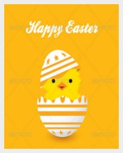 Vector EPS Easter Card Template