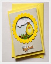 Yellow Colour Easter Card Template