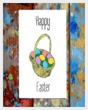 Colourful Happy Easter Greeting Card Example
