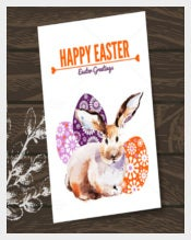 Happy Easter Greeting Card Sample EPS Template