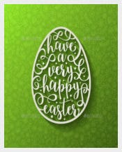 Vector EPS Format Easter Greeting Card Template