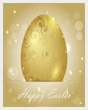 Beautiful Golden Easter Egg Background