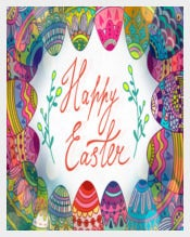 Bright Easter Photoshop Invitation