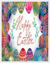 Bright Easter Photoshop Invitation