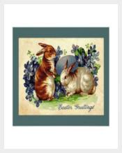 Lovable Bunnies PSD Easter