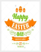 Happy Easter Example Poster Template