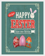 Vintage Easter Example Poster