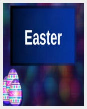 Easter Powerpoint in Blue Colour Download