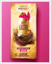 Colorful Background Easter Flyer Free