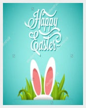 Easy To Print Easter Flyer Template
