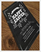 Happy Easter Invitation Flyer Template