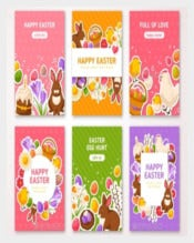 Happy Easter Posters Template