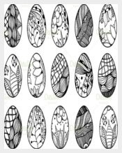 Hand Drawn Easter Eggs Drawing