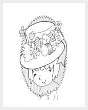 Free PDF Easter Bonnet Colouring Page