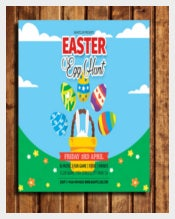 Invitation of Easter Party Flyer Template