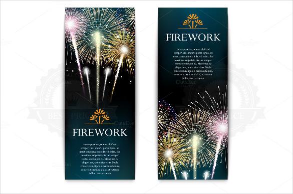 firework vertical banner