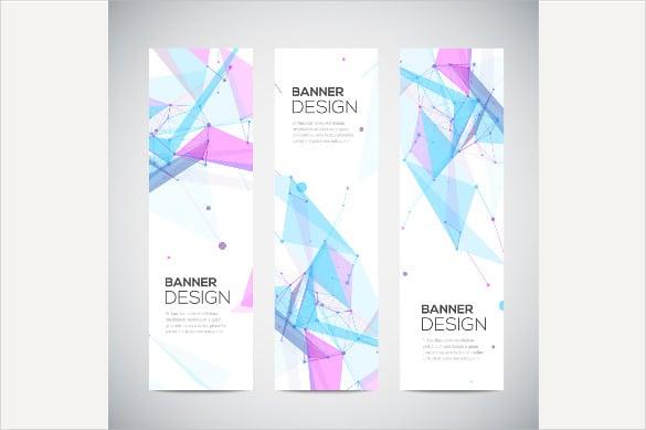 modern vertical banner